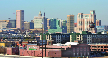 Baltimore city skyline daytime